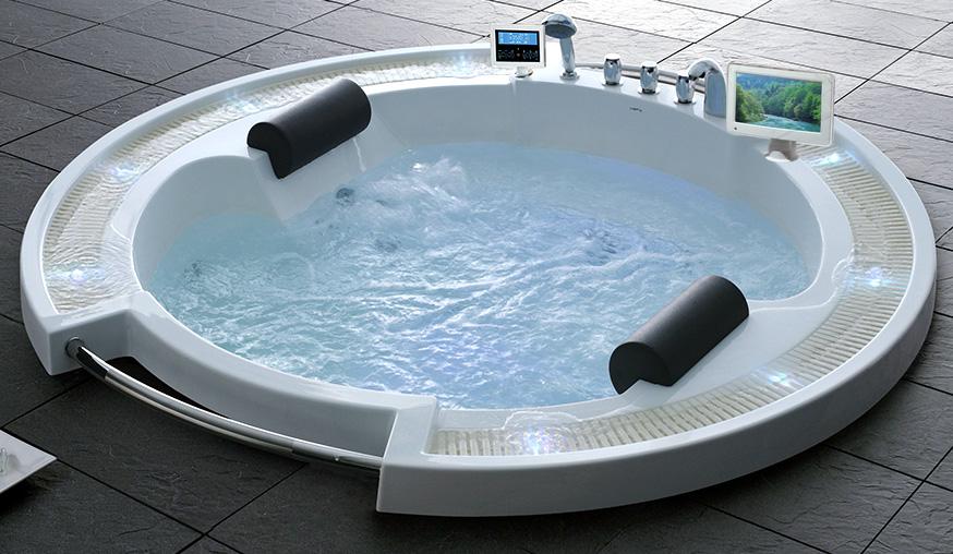 Гидромассажная акриловая ванна Gemy G9060 O, 210 х 210 х 87 см