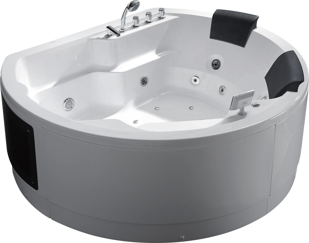 Гидромассажная акриловая ванна Gemy G9063 K, 183 х 162 х 83 см