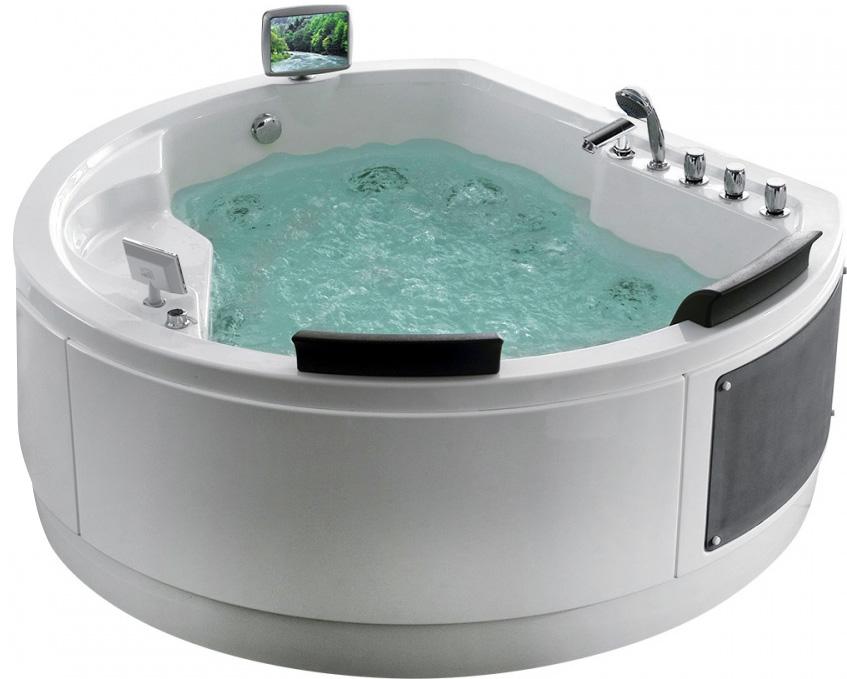 Гидромассажная акриловая ванна Gemy G9063 O, 183 х 162 х 83 см