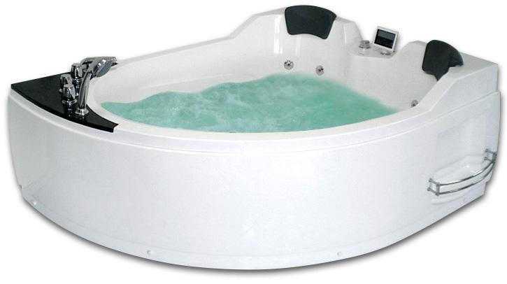 Гидромассажная акриловая ванна Gemy G9086 K R, 170 х 133 см