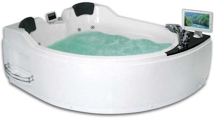 Гидромассажная акриловая ванна Gemy G9086 O L, 170 х 133 см