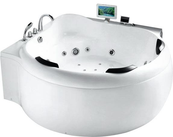 Гидромассажная акриловая ванна Gemy G9088 O, 185 х 185 см