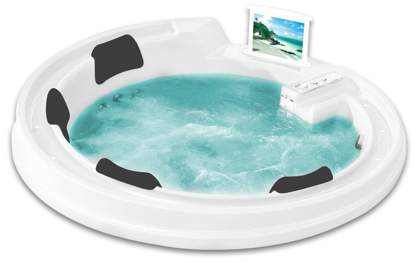 Гидромассажная акриловая ванна Gemy G9090 O, 190 х 190 х 90 см