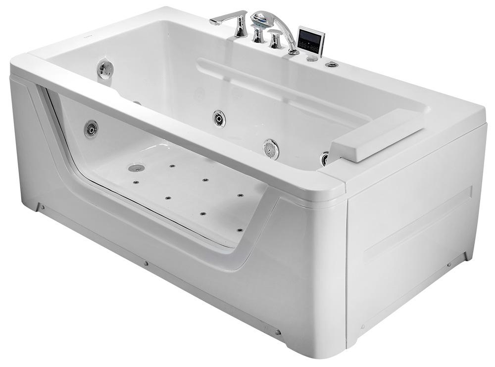 Гидромассажная акриловая ванна Gemy G9225K, 172 х 91 х 66.5 см