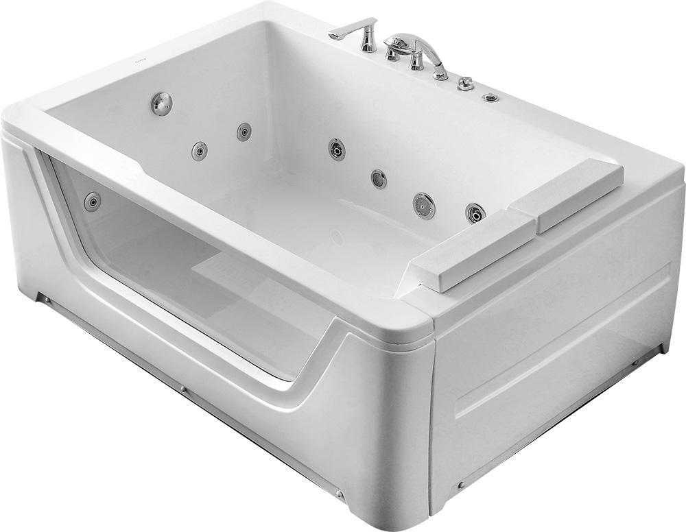 Ванна акриловая Gemy G9226 B 172 х 121 x 66.5 см с гидромассажем, белая