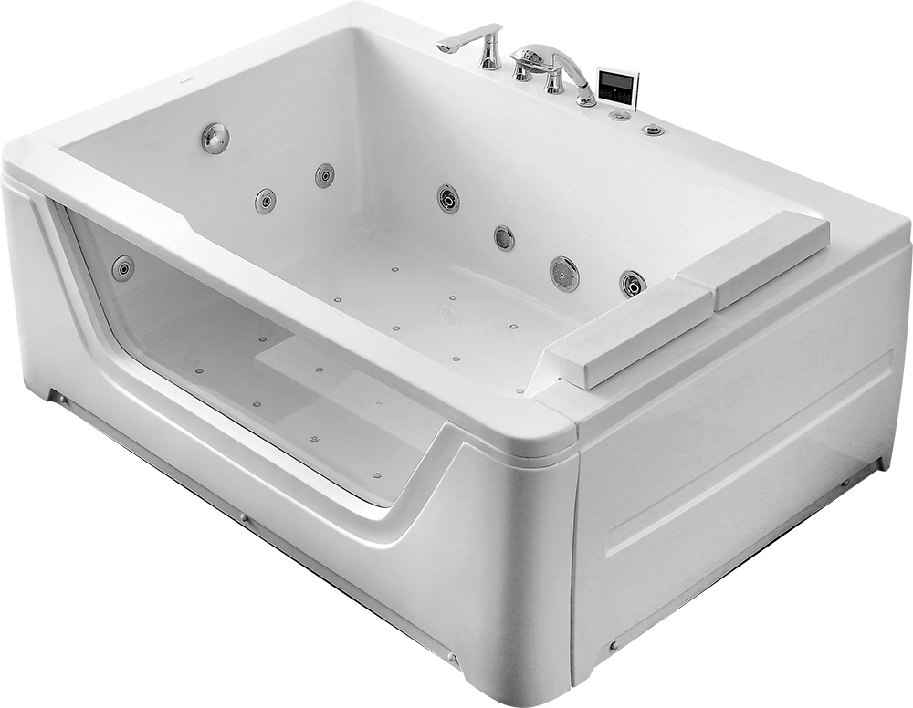 Гидромассажная акриловая ванна Gemy G9226K, 172 х 121 х 66.5 см