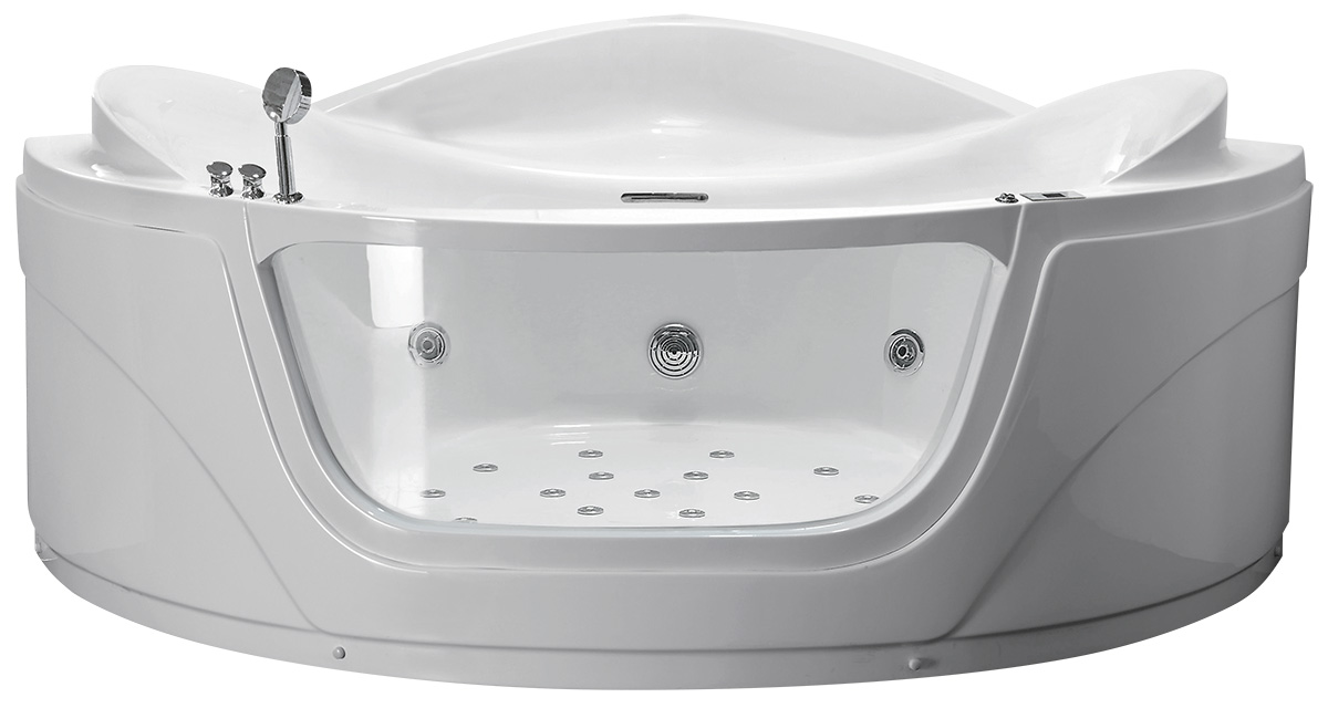 Гидромассажная акриловая ванна Gemy G9247 K, 165 х 165 х 82 см