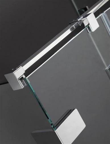 Душевая дверь Radaway Euphoria KDJ 100 левая ,  фурнитура хром , стекло прозрачное 3