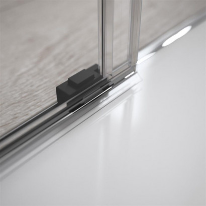 Дверь для душевого уголка Radaway Idea Black KDJ 140 левая , профиль чёрный , стекло прозрачное 5