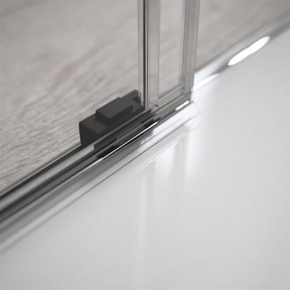 Боковая стенка для душевого уголка Radaway Idea Black KDJ 90 левая , профиль чёрный , стекло прозрачное 5