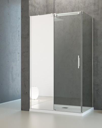 Боковая стенка для душевого уголка Radaway Espera KDJ 75x200 левая ,  профиль хром, стекло прозрачное