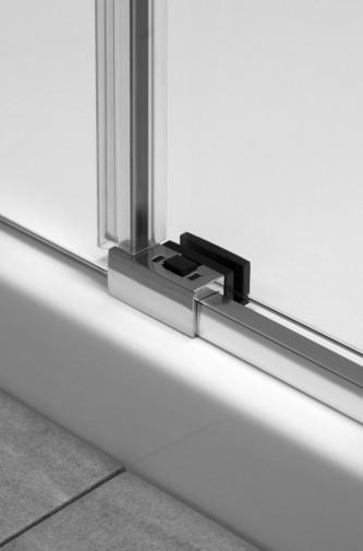 Боковая стенка для душевого уголка Radaway Espera KDJ 75x200 левая ,  профиль хром, стекло прозрачное 4