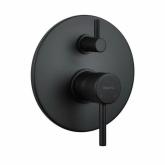 Смеситель для душа встраиваемый с переключателем на 3 потребителя Giulini Futuro черный матовый 6513-3NO