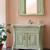Комплект мебели для ванной комнаты Аллигатор мебель Classic 100 B (D) , зеркало с 2-мя шкафчиками цвет 1015 с патиной