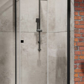 Душевой уголок Radaway Essenza New Black PTJ PTJ 80x90 дверь правая на узкой стенке , профиль чёрный , стекло прозрачное