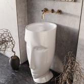 """Kerasan Artwork Раковина свободностоящая """"MOLOCO"""", с отверстием для слива в стену, цвет белый"""