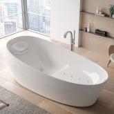 TOTO NEOREST Ванна 2200x1050x780 мм, отдельностоящая, со сливом-перел, подгол.с сифоном,с гидро- и аэромасс.,с эффектом невесомости, цвет: белый