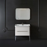 Kerasan Waldorf Комплект мебели с ножками ХРОМ, с 1 ящиком и 1 дверцей, 100см, Цвет: матовый белый