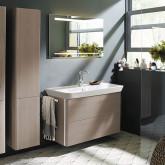 Burgbad Iveo Комплект мебели с раковиной 1000 мм, цвет фланелевый дубовый