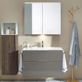 Burgbad Eqio Комплект мебели с раковиной 1230 мм, цвет серый глянец