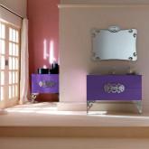 Eurolegno Glamour, Комплект мебели композиция 5, 120см, Цвет: iris lucido