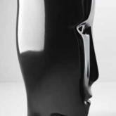 """Kerasan Artwork Раковина свободностоящая """"MOLOCO"""", с отверстием для слива в стену, цвет черный глянцевый"""