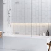 Шторка для ванны Radaway Euphoria PND 130 правая , фурнитура хром ,стекло прозрачное