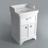 Тумба POMPEI под умывальник напольная 60 см,1 ящик, 2 дверцы белый