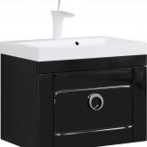 Инфинити Тумба под умывальник подвесная с ящиком, цвет черный Inf.01.06/001/BLK,