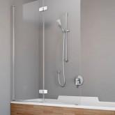 Шторка на ванну Radaway Fuenta New PND 120 левая , профиль хром , стекло прозрачное