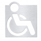 Табличка «Туалет для инвалидов» Bemeta Hotel 111022025, хром матовый