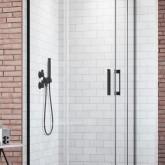 Дверь для душевого уголка Radaway Idea Black KDD 90 левая , профиль чёрный , стекло прозрачное