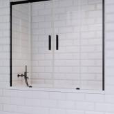Шторка для ванны Radaway Idea Black PN DWD 160 профиль чёрный , стекло прозрачное