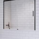 Шторка для ванны Radaway Idea Black PN DWJ 180 правая , профиль чёрный , стекло прозрачное