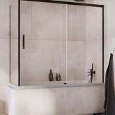 Шторка для ванны Radaway Idea Black PN DWJ + S 140 левая , профиль чёрный , стекло прозрачное