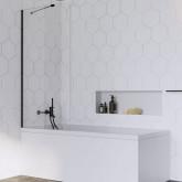 Шторка для ванны Radaway Idea Black PNJ 80 профиль чёрный , стекло прозрачное