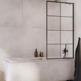 Шторка для ванны Radaway Idea Black PNJ Factory 60 профиль чёрный , стекло прозрачное