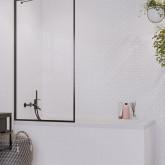 Шторка для ванны Radaway Idea Black PNJ Flame 90 профиль чёрный , стекло прозрачное