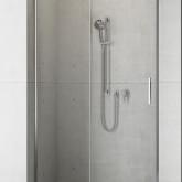 Душевая дверь в нишу Radaway Idea DWJ 100x200 левая , профиль хром, стекло прозрачное