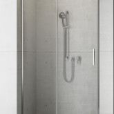 Душевая дверь в нишу Radaway Idea DWJ 130x200 правая , профиль хром, стекло прозрачное