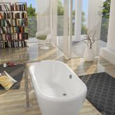 Овальная ванна Riho Dua 180x86 с белой глянцевой панелью без гидромассажа BD0100500000000
