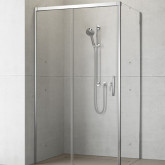 Боковая стенка для уголка Radaway Idea KDJ 75 левая , профиль хром, стекло прозрачное