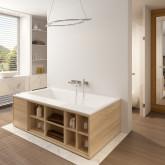 Прямоугольная ванна из искусственного камня Riho Girasole 180x100 белая BS4800500000000