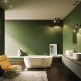 Овальная ванна из искусственного камня Riho Oval 160x72 белая BS6700500000000