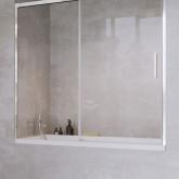 Шторка на ванну Radaway Idea PN DWJ 140 левая , профиль хром, стекло прозрачное