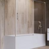 Шторка на ванну Radaway Idea PN DWJ + S 150 левая , профиль хром, стекло прозрачное