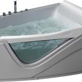 Гидромассажная акриловая ванна Gemy G9056 B R 170 х 130 см, белая