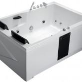 Гидромассажная  акриловая ванна Gemy G9061 B R 181 х 121 x 70 см с , белая