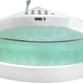 Аэромассажная акриловая ванна Gemy G9080 150 x 150 x 60 со стеклянной стенкой