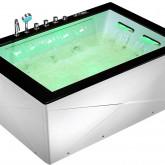 Гидромассажная акриловая  ванна  Gemy G9259 180 х 130 x 70 см, белая